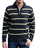 Mioubeila Men's 1/4 Zip Sweater Knitwear Long Sleeve Pullover Knitted Tops