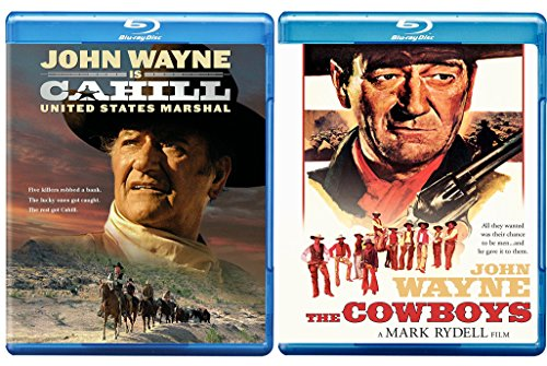 John Wayne The Cowboys [Blu-ray] + Cahill United States Marshall 2 Pack Blu Ray Bundle Movie collection Classic Set