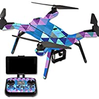 MightySkins Protective Vinyl Skin Decal for 3DR Solo Drone Quadcopter wrap cover sticker skins Purple Kaleidoscope
