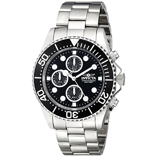 Invicta Coin Edge Bezel - Invicta Men's 1768 Pro Diver Collection Stainless Steel Watch with Black Dial