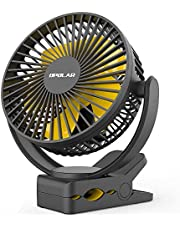 OPOLAR 5000mAh Rechargeable Battery Operated Clip On Fan, Super Quiet & Strong Wind USB Fan, Portable Strong Clamp Personal Fan for Golf Cart, Office Desk, Chair, Treadmill, Camping Tent