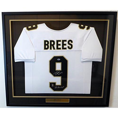 outlet store a5a50 b0d24 New Orleans Saints Drew Brees Autographed Framed White ...