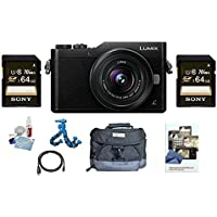 Panasonic DC-GX850KS 12-32mm (Black) W/(2x) Sony 64GB Class 10 SDXC Memory Cards Deluxe Kit DCGX850KS GX850 GX-850 850KS