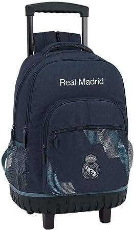 Safta Mochila Grande Ruedas Compact Real Madrid, (611834818 ...