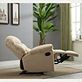 Reclining Chair Ergonomic Deluxe Design Armchair Leisure Relax Home Living Room Beige Color offers