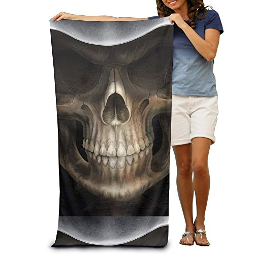 GHEDPO Cool Wallpaper Skull Background Microfiber Travel Towel by GHEDPO