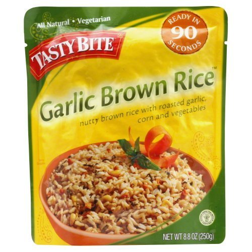 Rice Brwn Rstd Garlic (Pack of 6) by Tasty Bite ()