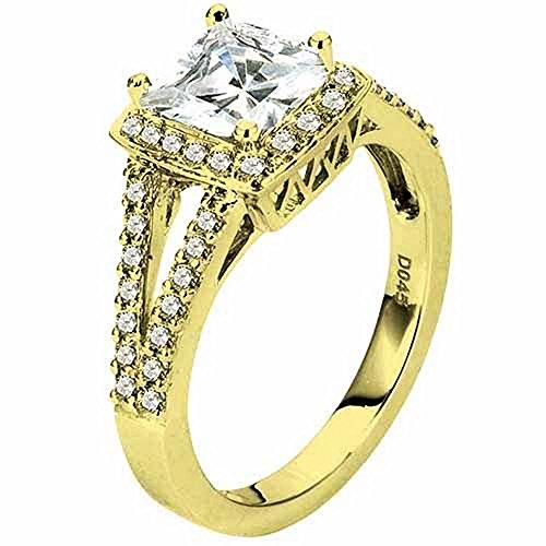 1.45 Carat Princess Cut Diamond Engagement Ring ()