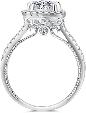 Beclgo Ring,Super Flash Large Diamond Ring Luxury High-end Ring