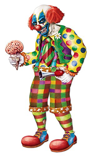 Beistle Jointed Zombie Clown, 5-Feet 6-Inch -