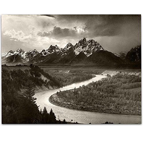 - Lone Star Art Snake River Overlook by Ansel Adams Photo - 11x14 Unframed Print - Perfect Vintage House Decor