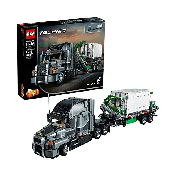 51RnXUe2QFL. SS600  - LEGO Technic Mack Anthem 42078 Semi Truck Building Kit and Engineering Toy for Kids and Teenagers, Top Gifts for Boys…