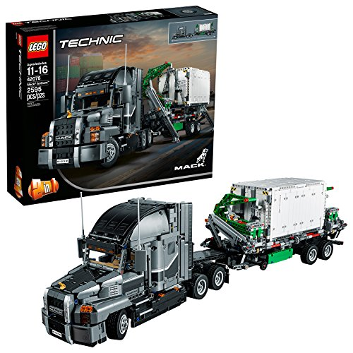 (LEGO Technic Mack Anthem 42078 Semi Truck Building Kit and Engineering Toy for Kids and Teenagers, Top Gifts for  Boys (2595 Piece) )
