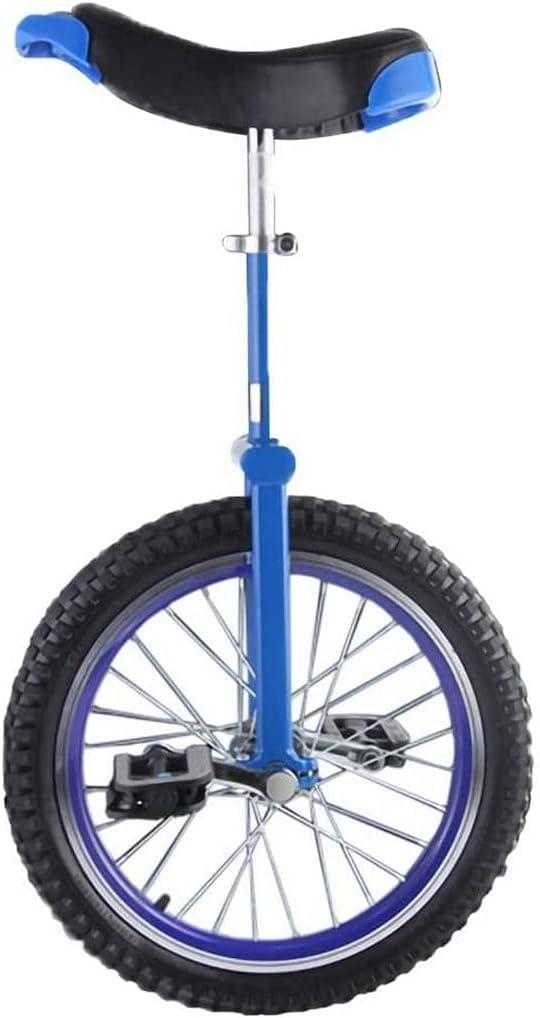 Bicicleta de equilibrio, monociclo, equilibrio de una sola rueda, divertidas bicicletas para acrobacias, sillín ergonómico contorneado, antideslizante ajustable, apto para niños principiantes, regal