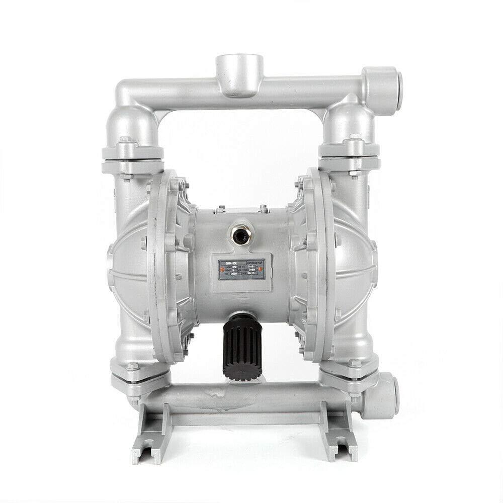Air-Operated Double Diaphragm Pump 1//2 inch Inlet /& Outlet Cast Iron 115PSI QBK-15 Dual Diaphragm Air Pump for Low Viscosity Petroleum Fluids