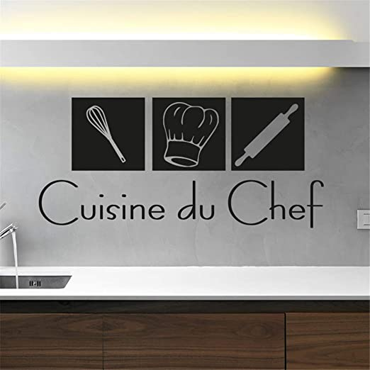 Pegatina De Pared Frases Cuisine Du Chef With Chef Hat