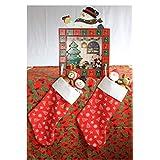 Bota de Navidad, bonito adorno navideño, original, lista para que Santa Claus las pueda llenar, múltiples colores, artesanal, Christmas stocking, 46x28cm Por: Imagina y Ordena