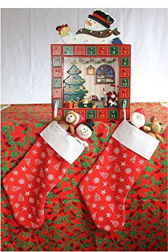 Bota de Navidad, bonito adorno navideño, original, lista para que Santa Claus las pueda llenar, múltiples colores,...