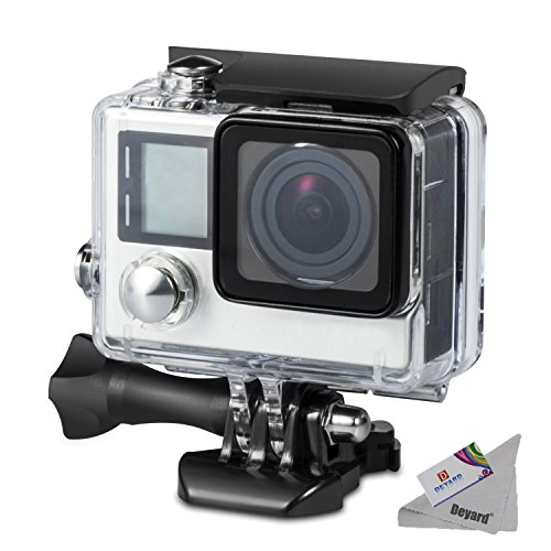 Deyard Waterproof Housing Case for GoPro Hero 4 and Hero 3+ with Quick Release Mount and Thumbscrew for GoPro Hero 4 and Hero 3+ Action Camcorder - 45 Meters Underwater Photography