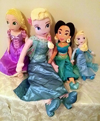 Disney Store Princee Sleeping Beauty Prince Phillip Flora Fauna and Merryweather Plush Doll Lot