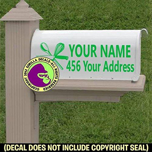 CHEF TOOLS Custom Mailbox Set Vinyl Decal Sticker ()
