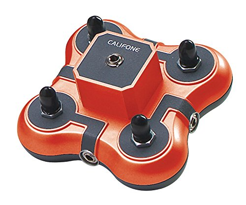 Califone Red Stereo Headphone - Califone 1114-RD 1114RD 4-Position Mini Stereo Jackbox, Red, Red