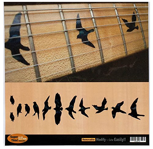 Fret Markers for Guitar & Bass Inlay Sticker Decals In Abalone Theme -Birds/BP