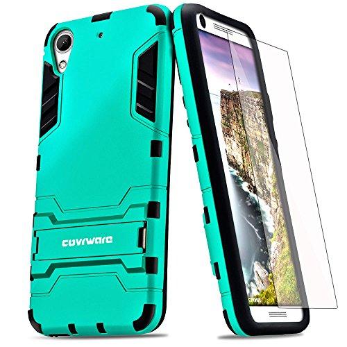 COVRWARE HTC Desire 626 / 626s [Slim Series] Armor Protective Case [Kickstand] [Slim Fit] [Screen Protector] (MetroPCS/Verizon/AT&T) - Turquoise (CW-D626-SL12)