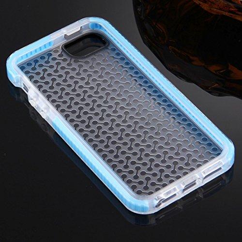 Mobile protection Para el iPhone 5 y 5s & SE Caja de TPU de la textura de la pesa de gimnasia ( Color : White ) Blue