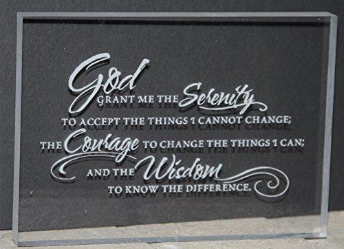 Serenity Prayer Engraved Acrylic Desk Plaque