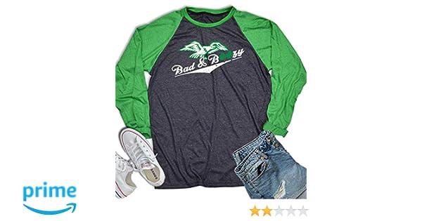 14acf1829 Amazon.com: Bad and Boozy St Patrick's Baseball Shirt 3/4 Sleeve St Patrick  Day Vintage Irish Shirt Green Long Sleeve Men Womens: Clothing