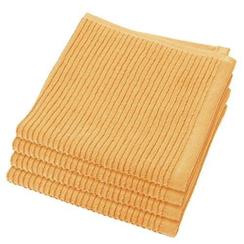 Now Designs Ripple Kitchen Dishcloth, Set of 4, Honey
