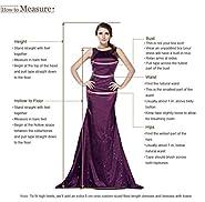 VERNASSA Women's Mermaid Long Chiffon Prom Dresses Slit Evening Dress Gown