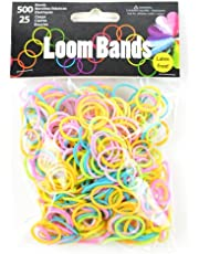 Touch of Nature 500 Value Pack Loom Bands, Assorted, Includes 25 Plastic Claps, Pastel Green/Orange/Pink/Purple/Yellow/Turquoise