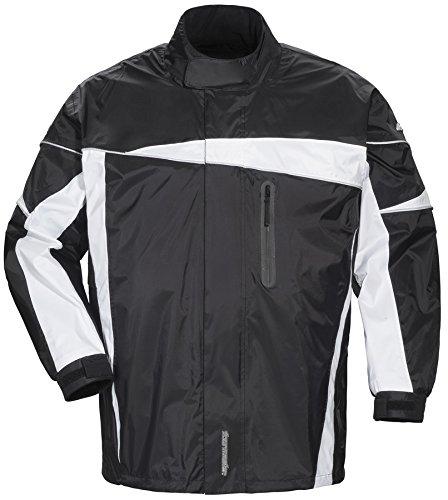 Joe Textile Rocket Suzuki (Tourmaster Defender 2.0 Black Two-Piece Rain Suit size Large)