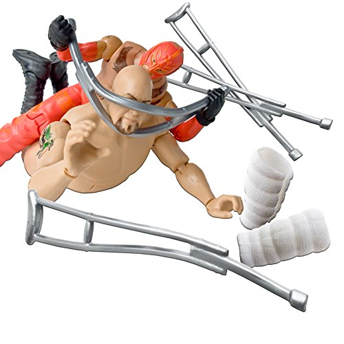 Cast and Crutches Accessory Deal 15 for WWE Wrestling Action Figures by Figures Toy Company