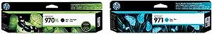 HP 970   PageWide Cartridge High Yield   Black   CN625AM & 971   PageWide Cartridge   Cyan   CN622AM