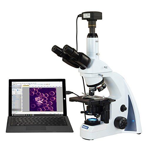 OMAX 40X-2500X 18MP USB3 PLAN Infinity Darkfield Trinocular Siedentopf LED Lab Compound Microscope by OMAX