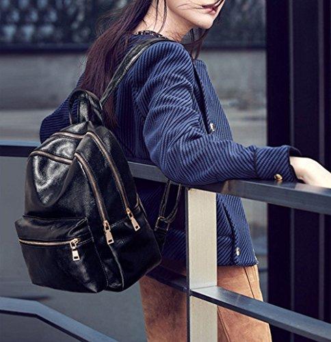 Black Bandoulière Simple Dos à Pu Loisirs ZHXUANXUAN Femme Sac Style Collège Sac à 2017 n7q1xRFOwU