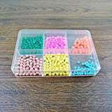 Lonjew 602 Plastic Bead Organizer with six Different Compartment Plastic Beadwork Box with dividers