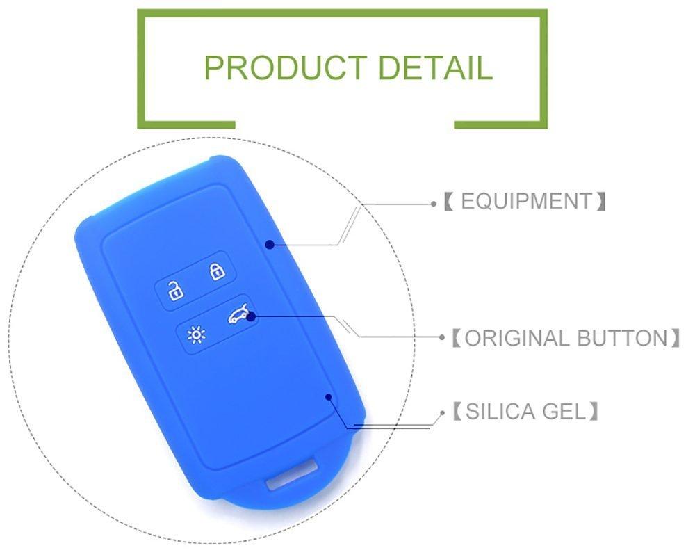 Car Key Fob Case Holder - AUTOMAN Llavero para coche fob Funda de silicona Protector de caja Llavero Bag Black 2 botones (Silicon 2PCS)