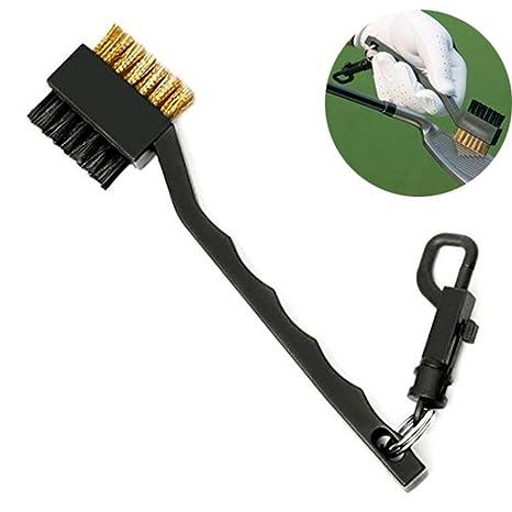 cepillo palo de golf Limpieza Groove 2 caras Nailon + latón ...