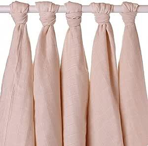 xkko trapos para bebé muselina de 70 x 70 cm Bio-Algodón 5er-juego de colour beige: Amazon.es: Bebé