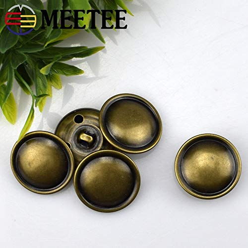 - Maslin 50pcs Button high-Grade Copper Fashion Leather Buckle Edge arc Half Mushroom Coat Sweater Coat Button B3-16 - (Size: 23mm)