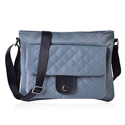 Pattern Adjustable Crossbody Bag Shoulder TJC Cm Diamond Grey Strap 28x21 5 TqwU5ZIZxE