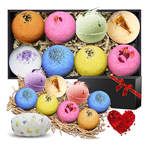 N-LIfe Bath Bombs Ideal Gifts Set for Women 8 Lush Fizzies Handmade Essential Oils Spa Organic and Natural Scent with Free Petals bathing Cap For Relaxation Party Christmas Valentines Day Birthday