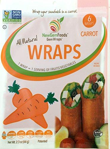 GemWraps® Carrot Sandwich Wraps 6-sheets