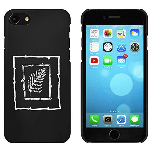 Schwarz 'Blatt-Motiv' Hülle für iPhone 7 (MC00067011)