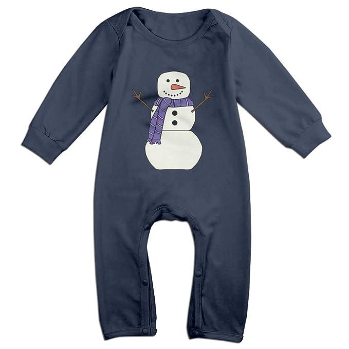 Amazon.com: Bebé niña niño Navidad muñeco de nieve manga ...