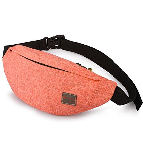 Tinyat Travel Fanny Bag Waist Pack Sling Pocket Super Lightweight For Travel Cashier's box, Tool Kit T201, Orange